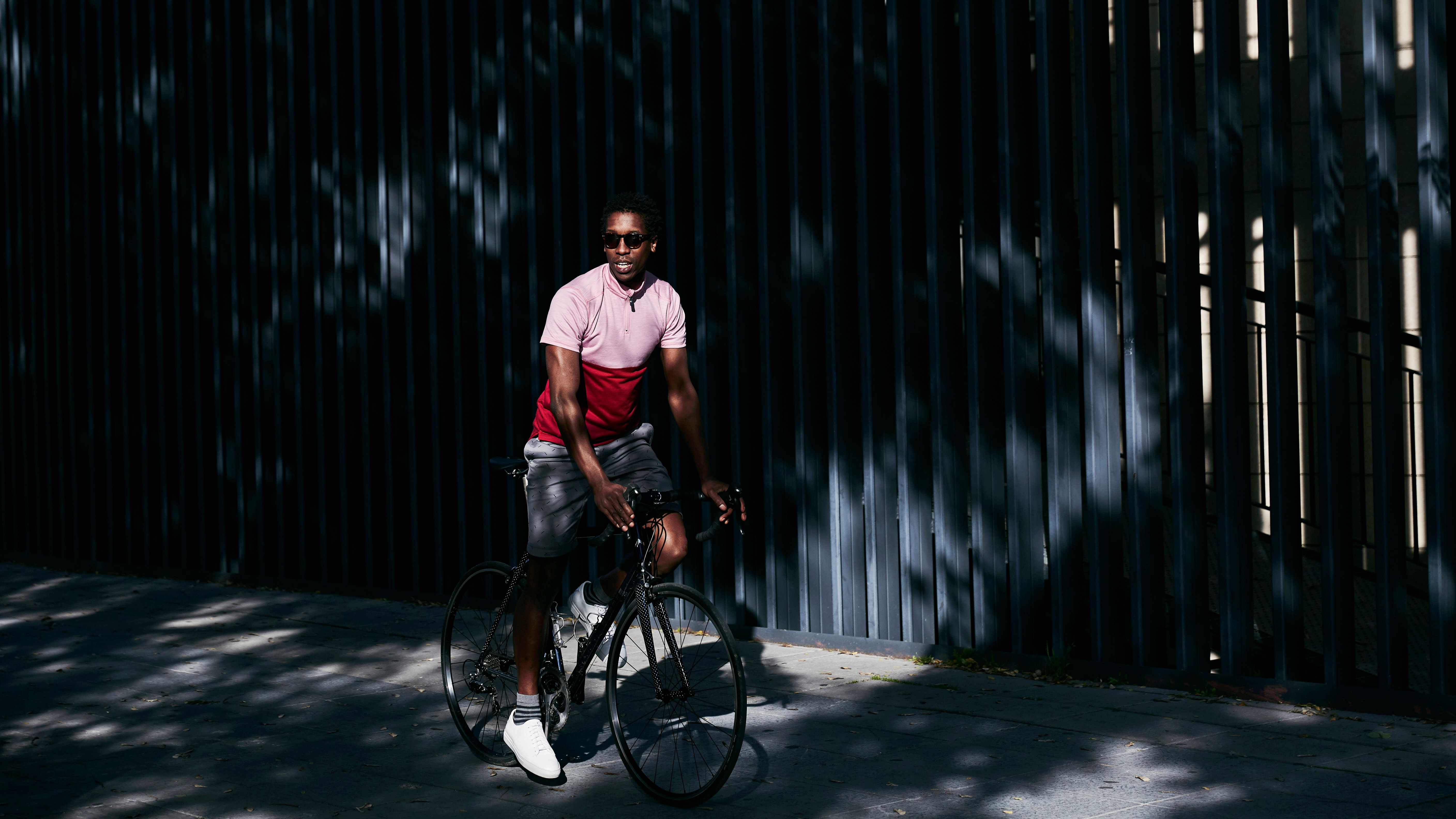 The city jersey is made from a very fine-knit merino wool, designed to work well in summer