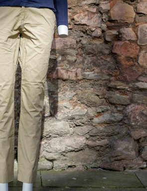 The women's Cigarette pants feature a tapered, slim cut to the leg