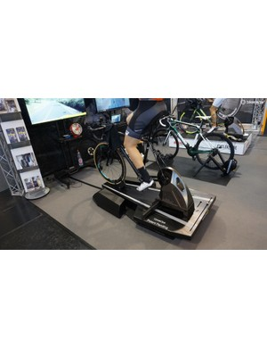 CycleOps is working on a dynamic smart trainer stand that moves fore and aft as well as rocking side to side