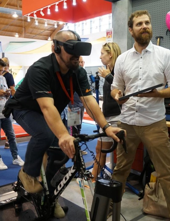 Road Grand Tours is a Zwift-like virtual riding experience - and one that is compatible with VR glasses