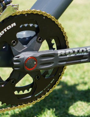 Alongside the ENVE components, the team also retains drivetrain components from Rotor and KMC