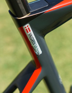 Rider name decals are located on the seat tube of the frames