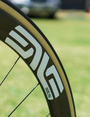ENVE SES wheels with Vittoria Corsa 25mm tubular tyres