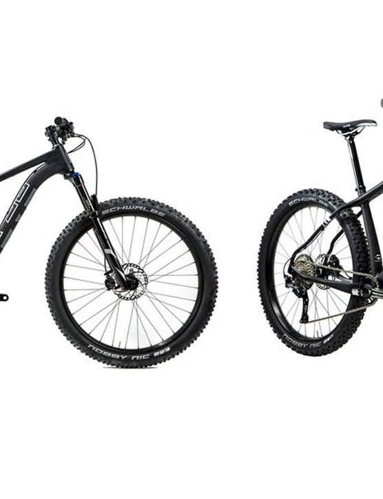 The Voytek frame is a 27.5+ or 29+ trail bike and a fat bike too