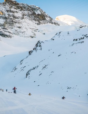 Mountain bikes, mountains and snow — a match made in heaven