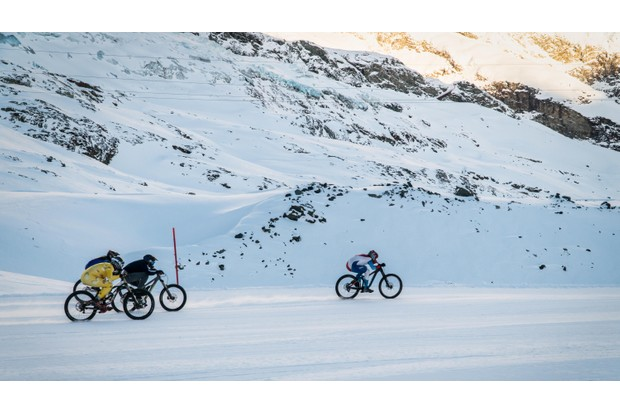 The glacier race is all about speed (and balls!)