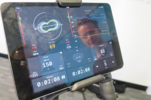 Wattbike's patented Polar View pedal analysis shows power balance between each leg and analyses the pedal stroke in real time