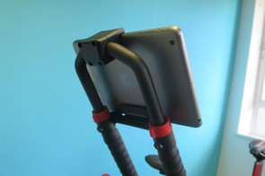 The screen mount integrated into the TT extensions can hold anything from an iPhone up to the largest tablets securely