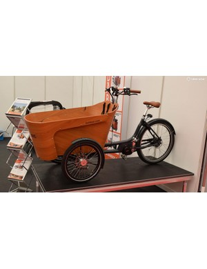 The Babboe bakfiets has a big bucket for your brood of brats