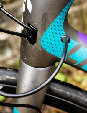 Internal cable routing keeps the lines clean