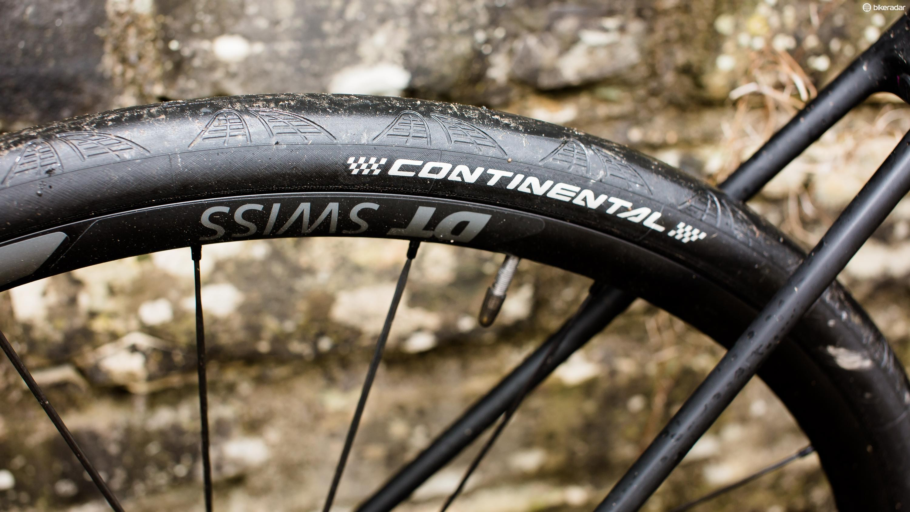 An impressive pairing of DT Swiss wheels and Continental tyres