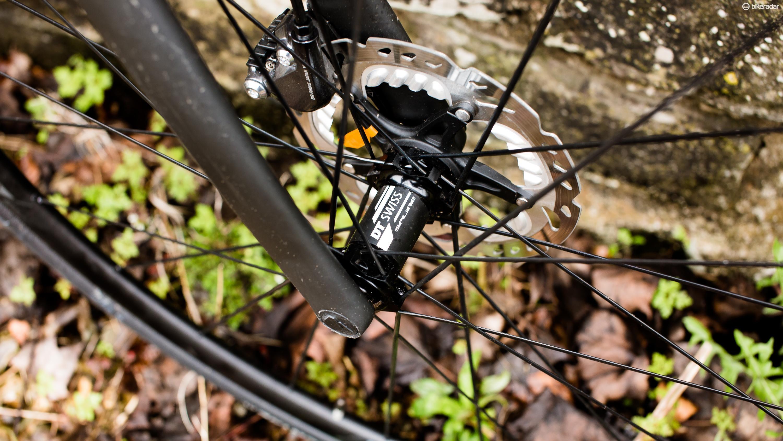 Bolt through hubs give a stiff interface between wheel and bike when braking