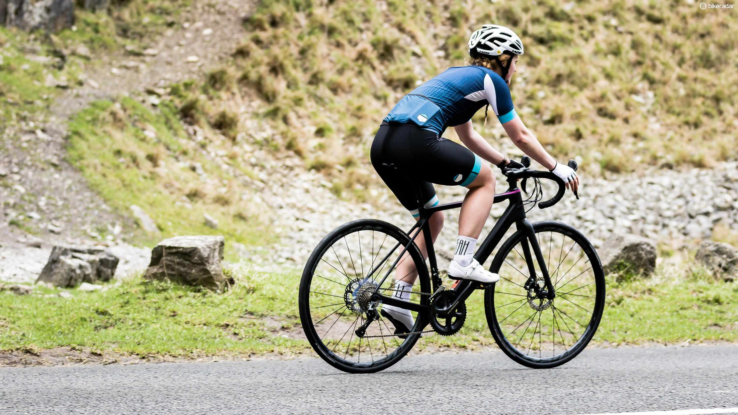 The Endurace in action in the Mendip Hills of South West England