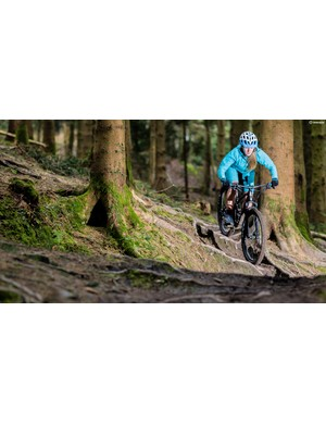 The Spectral made short work of rooty downhill tracks