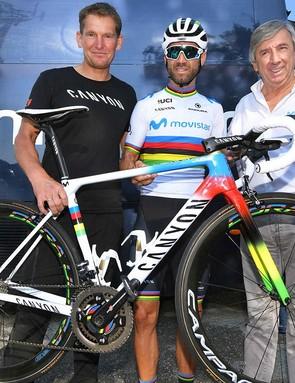 Canyon's Andreas Walzer, Alejandro Valverde and Eusebio Unzue