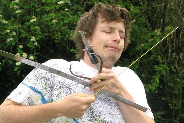 Jack Luke with measuring tools