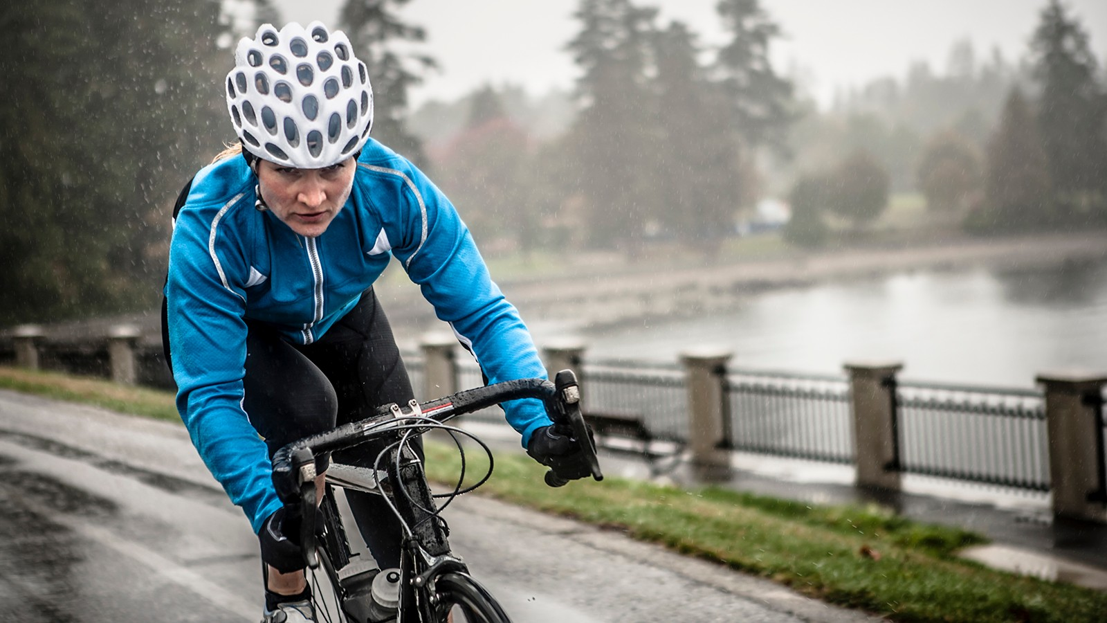 Adjust your clothing and riding style to stay safe in the rain