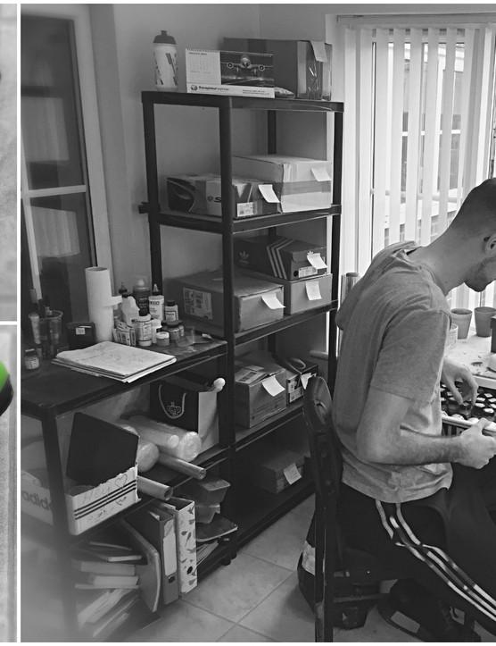 Artist Simon Fellows creates bespoke cycling shoes