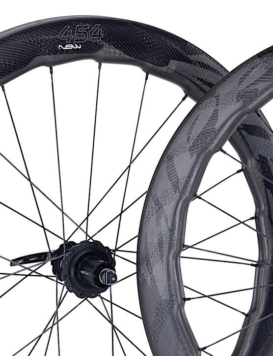 Zipp's distinctive 454 NSW wheels now come in tubulars models for rim and disc brake