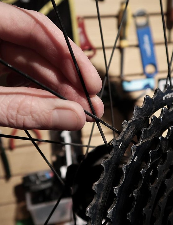 Inspect the wheels: give the spokes a quick squeeze to make sure none are loose