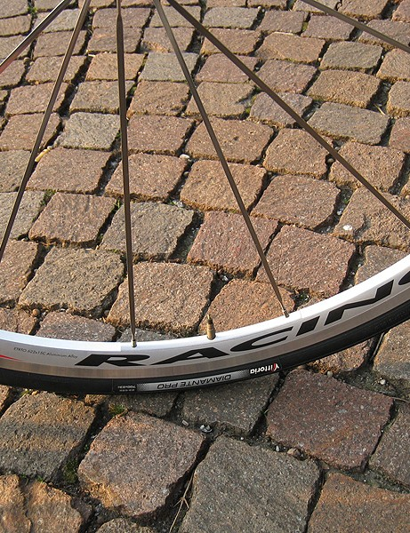 The Fulcrum Racing3 clincher wheelset isn't the lightest around but worked well nonetheless.