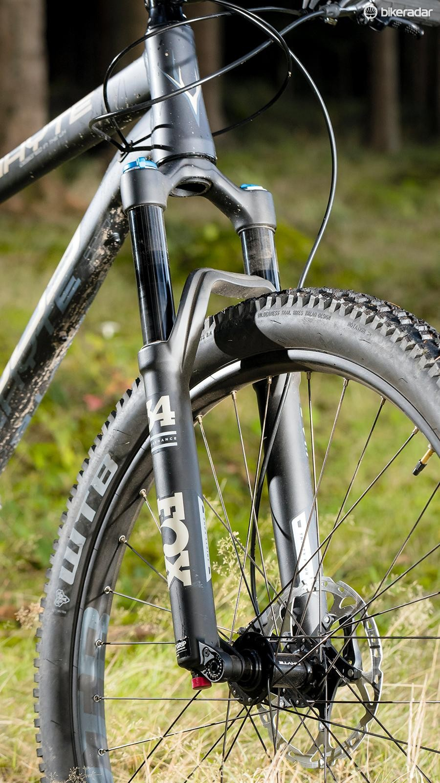 5564f9d273b Whyte's 909 hardtail Russell Burton. The Fox Float 34 Performance fork isn't  as supple as some