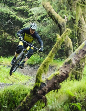 Sam Shucksmith, Whyte's design engineer and rapid enduro racer, chose to run 2.8