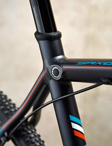 The Whyte has a neat seatpost clamp, but the post was prone to slipping