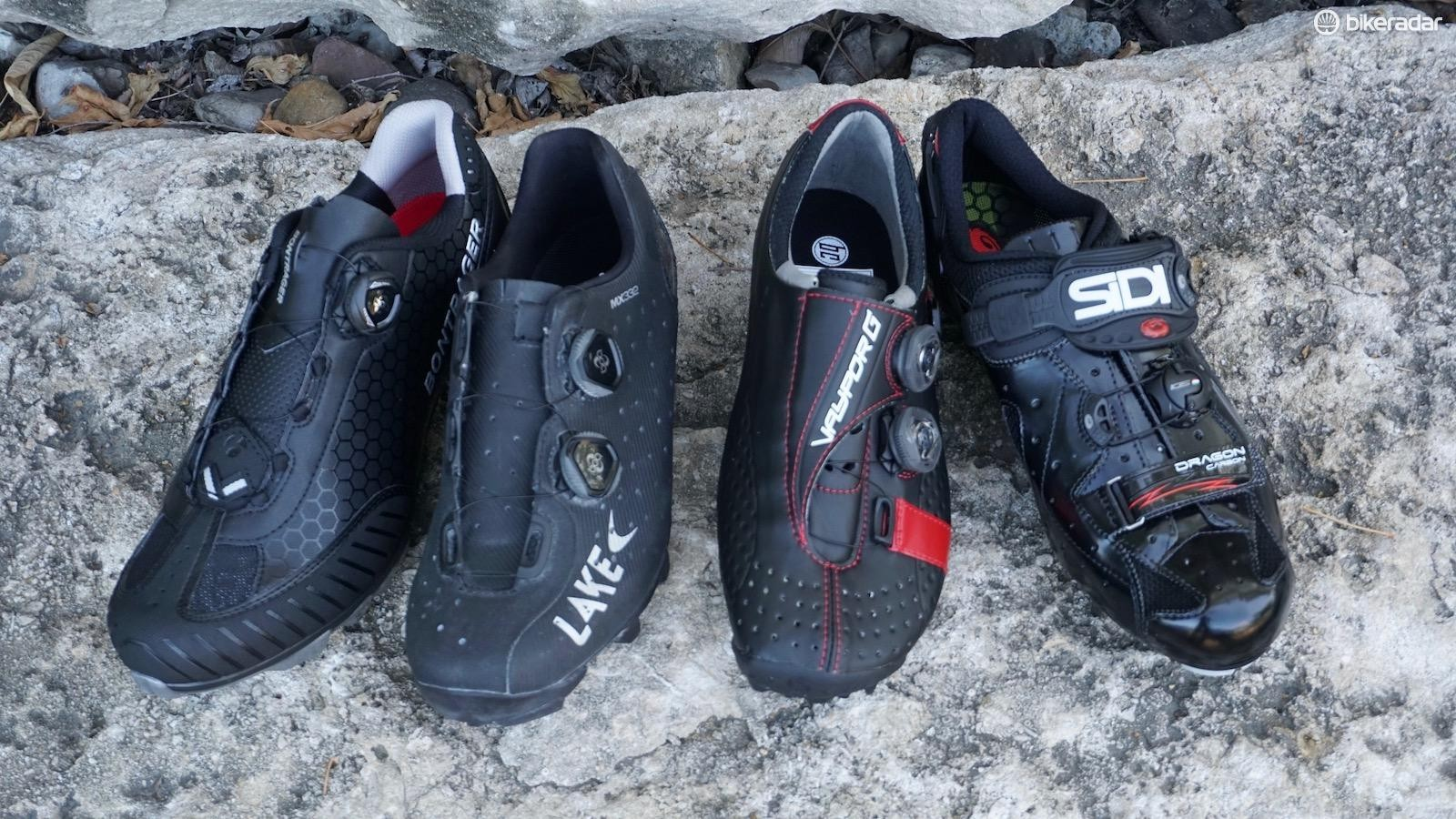 The Bontrager Foray and Sidi Dragon 4 are better for high-volume feet — Lake MX332 and Bont Vaypor G are better for a roomy forefoot