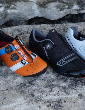Lake CX402 and Bont Vaypor+ are biomechanically proficient (roomy in the forefoot) — Bontrager Velocis and Shimano S-Phyre are great for the high-volume foot