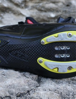 A unique feature in the SIDI shoe is the flex at the toe