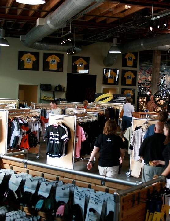 Plenty of dancing room in the clothing section.
