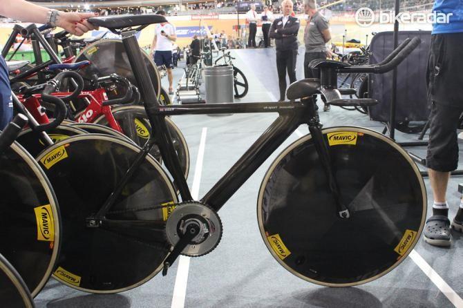 Bradley Wiggins' UK Sport Innovation team pursuit bike