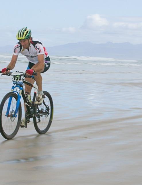 Sid Taberlay went for a gutsy solo breakaway along Ocean Beach