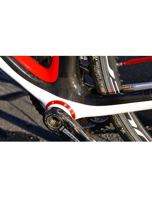 Wilier Triestina's oversized bottom bracket system is similar to Trek's, with widely set bearings and no cups