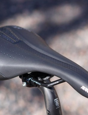 Selle Italia's Novus perch is comfortable for many riders, and the carbon post offers a fair amount of flex at the bend