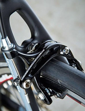 The brakes were one of the Wilier's few disappointments