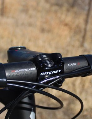 Ritchey's SuperLogic bar and stem are super light, at 190g and 125g, respectively