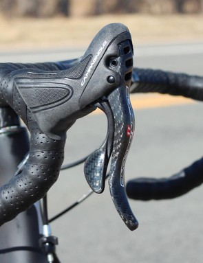 A few ultra-high-end component options are available, including this Campagnolo Super Record