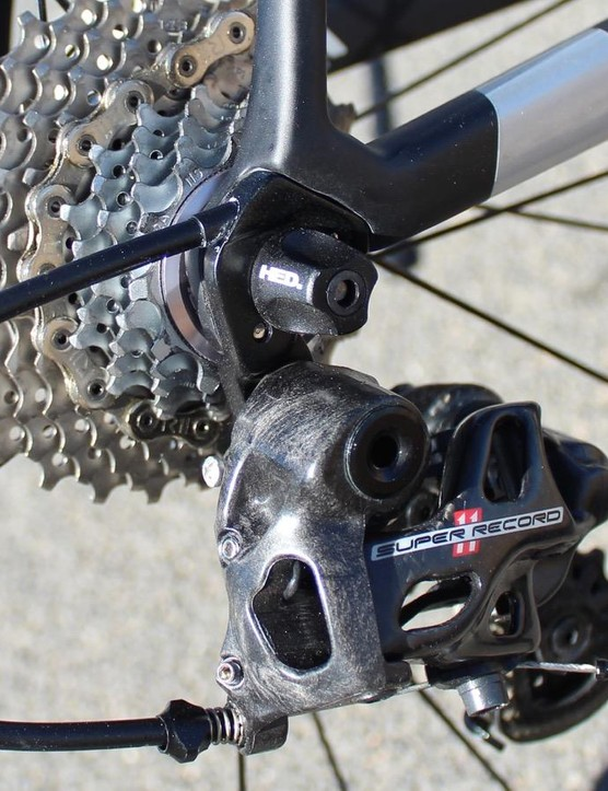 Internal routing *through* the derailleur hanger? That's uncommon