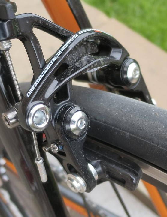 The rear direct mount brake and wide stays allow for more tyre clearance than you may expect of your usual aero road bike