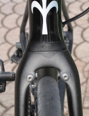 Post-ride dust from the local roads and the fittings for direct-mount brakes