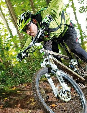 Attack the trail with your back running almost parallel to the top tube