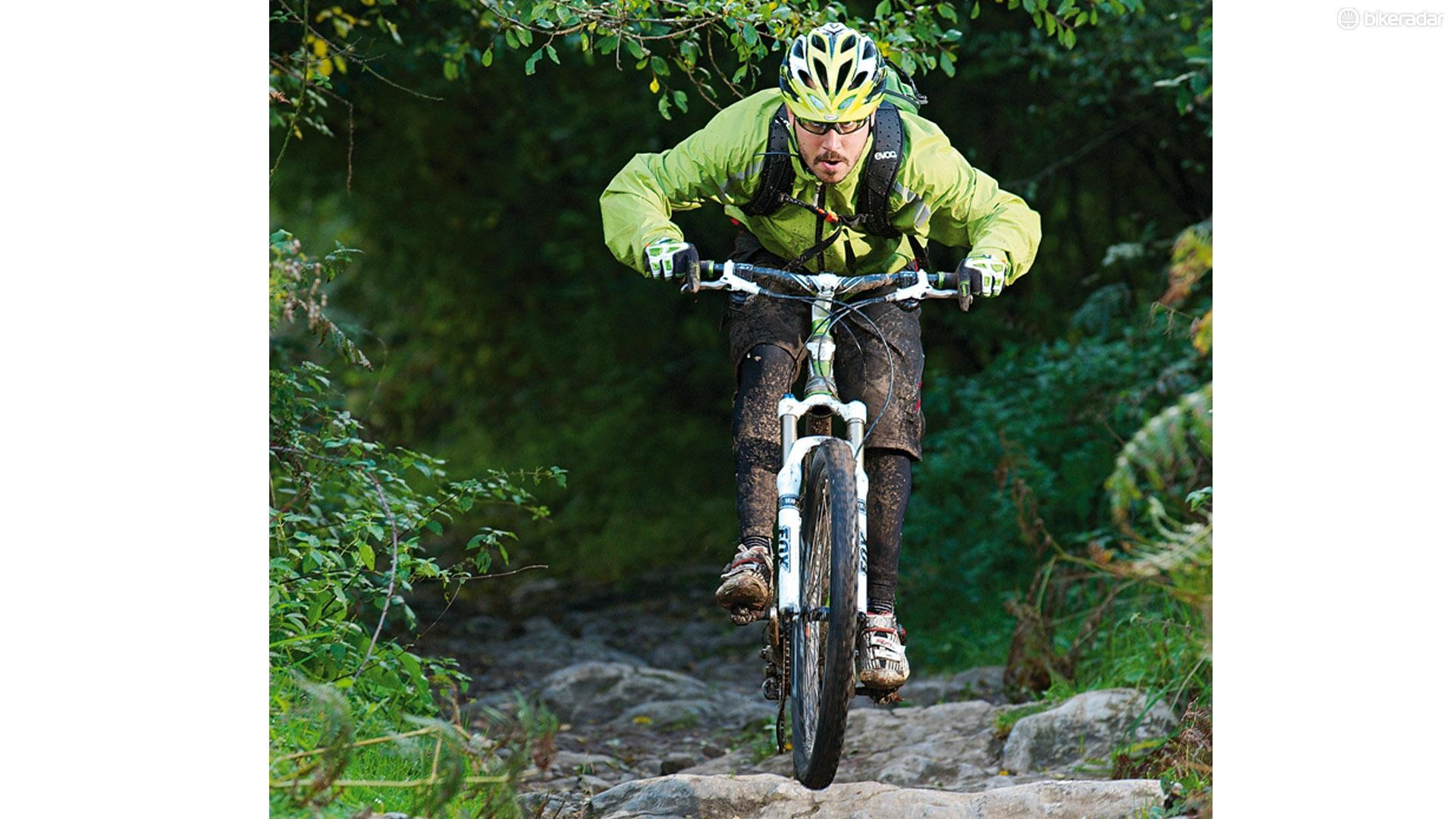 Make like you're on singletrack and try to keep going in a straight line