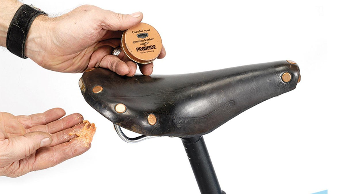 If you've got a leather saddle, give it a clean and rub in some saddle dressing
