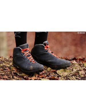 Waterproof shoes, or at least warm and water-resistant shoes, are a must for winter rides