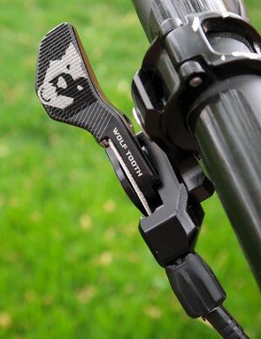 Wolf Tooth makes the ReMote for Shimano's I-Spec and a bar-mounted version, as well as the SRAM Matchmaker version tested here
