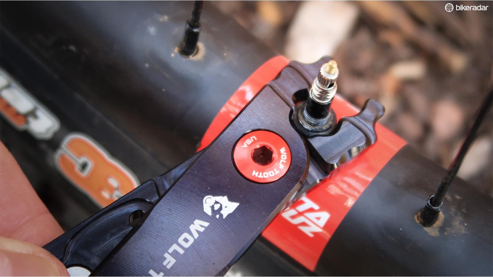 Loose valve nuts can be annoying on the road and a source of air loss for tubeless riders