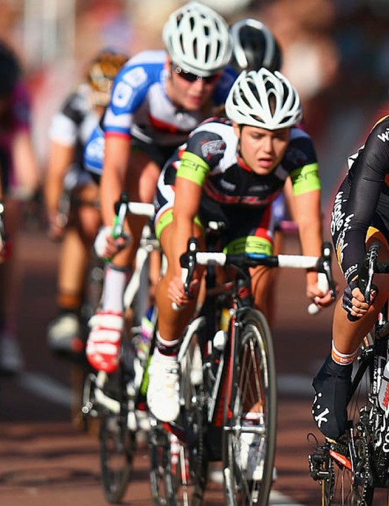 Racing gets underway at the 2014 RideLondon Grand Prix Pro