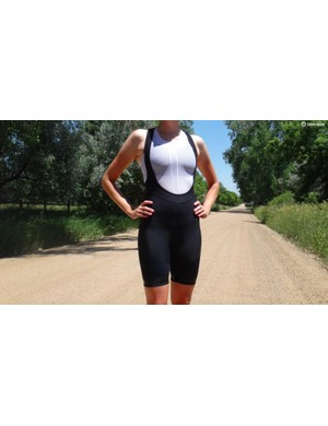 Padded shorts come in various types and prices. Bib shorts (pictured) are popular with many road cyclists, or you can get plain shorts, or thinner liner shorts for wearing under overshorts